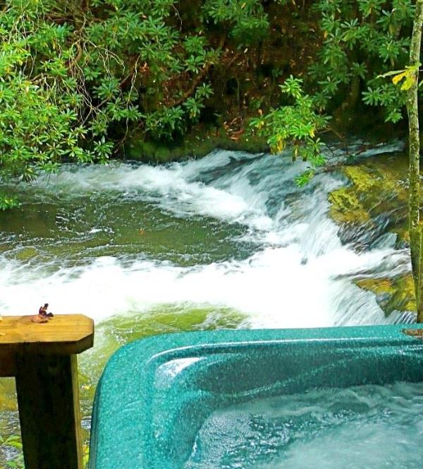 Laurelwood Falls Cabin-View From Hot Tub