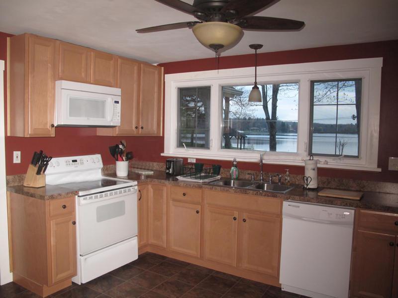 Kitchen overlooking the lake