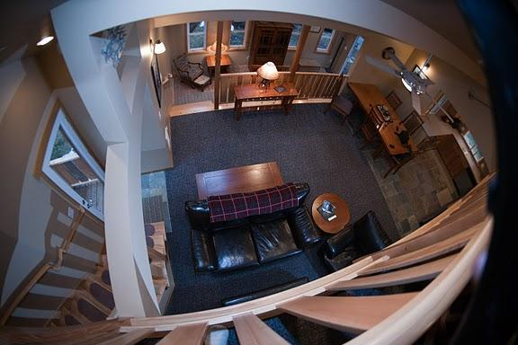 Loft view, open and spacious with many seating areas throughout the house