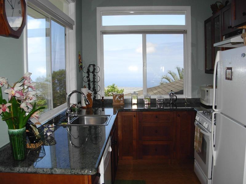 Fully equipped kitchen with ocean views