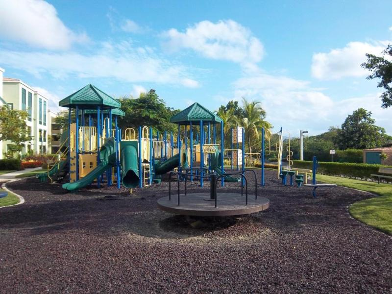 One of the two playground areas for kids