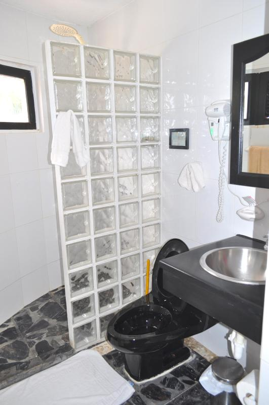 Villa Flamingo Bathroom with a Viw to the Ocean