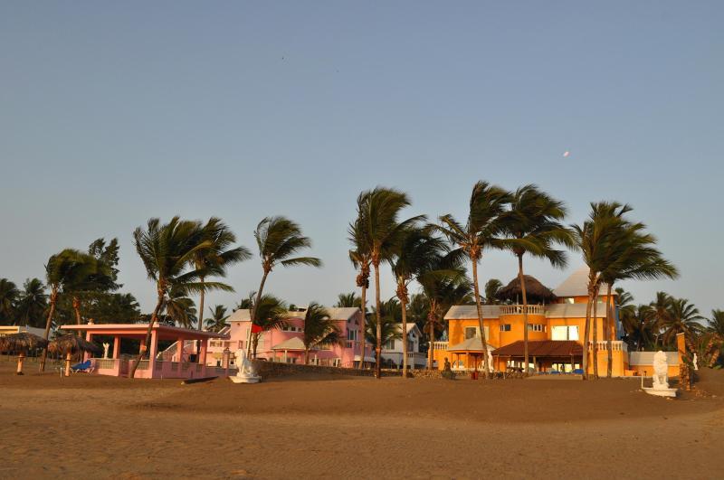 Villa Flamingo and Villa Leone from Beach