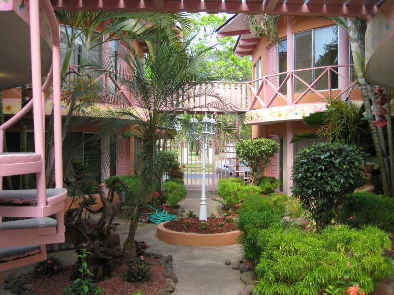 Entrance way to condo's from gate