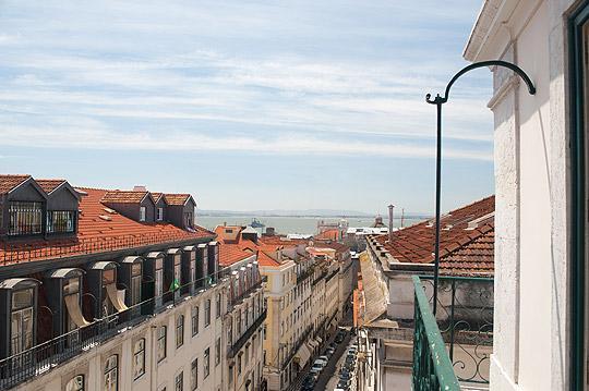 Vue du balcon sur le fleuve