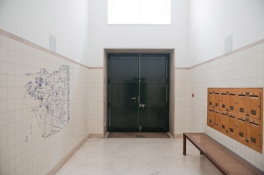 Hall d'entrée du bâtiment