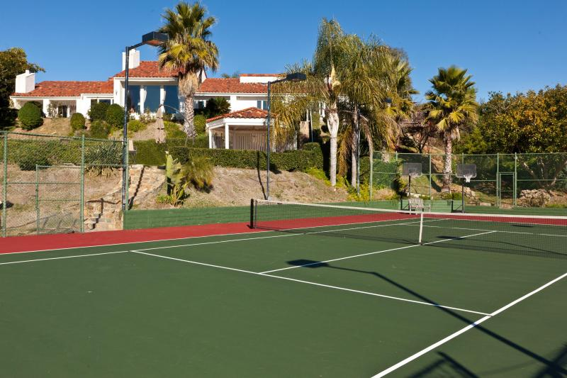 private lighted tennis court