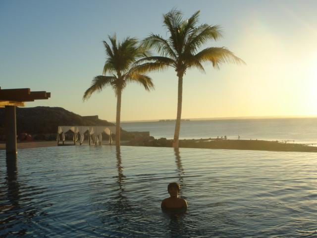 Infinity pool at the Beach Club
