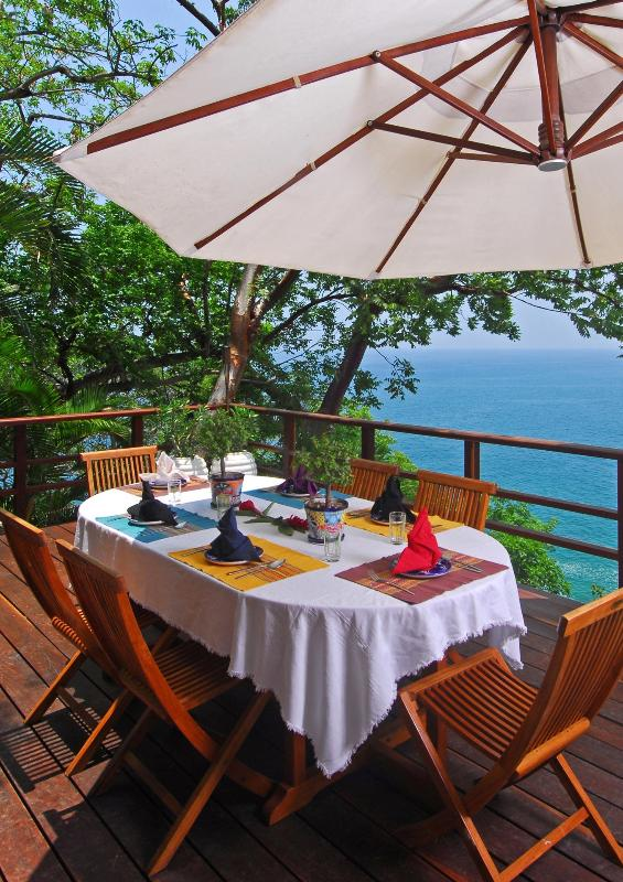 Start your morning off with breakfast and a stunning view