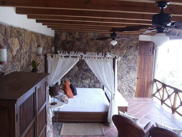 Canopy King bed in lower private level of Casa Coco.  Stunning Views!