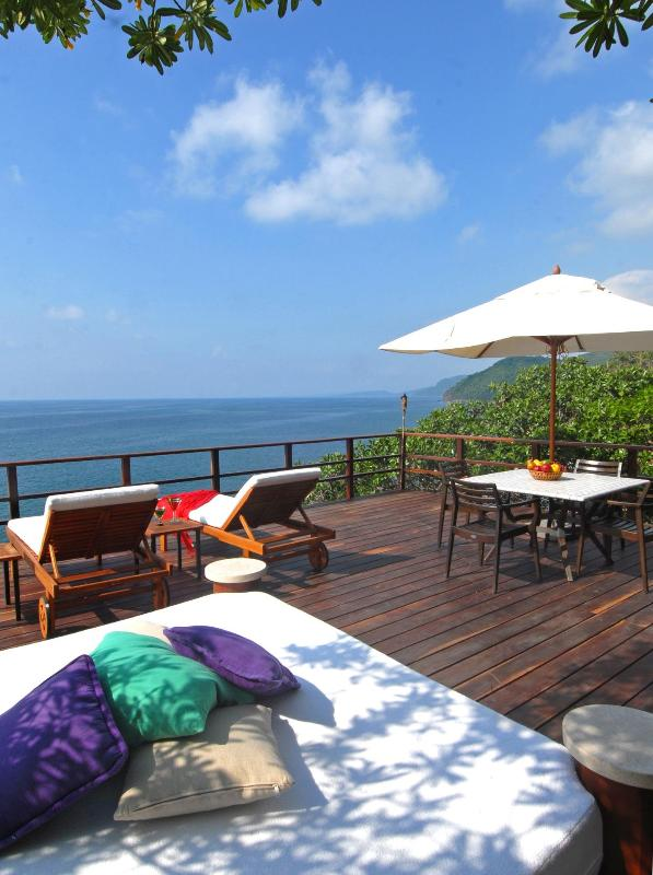 Get lost in a book on the stunning deck to be shared by all guests above Casa Mirador