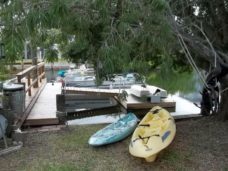 Free use of paddle boat and kayak