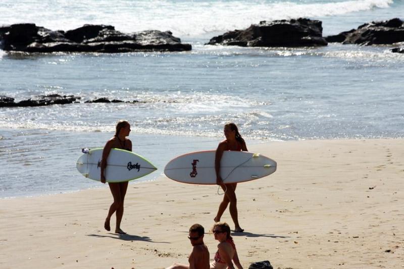 Un buen día para practicar el surf