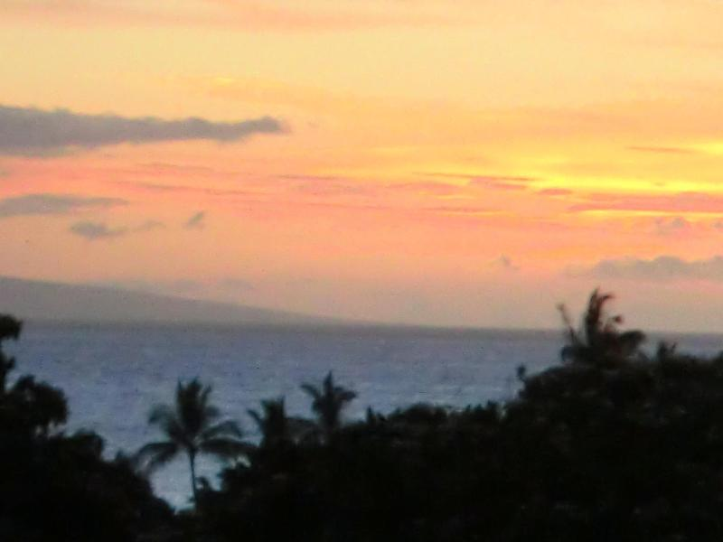 Sunset view from the Lanai-
