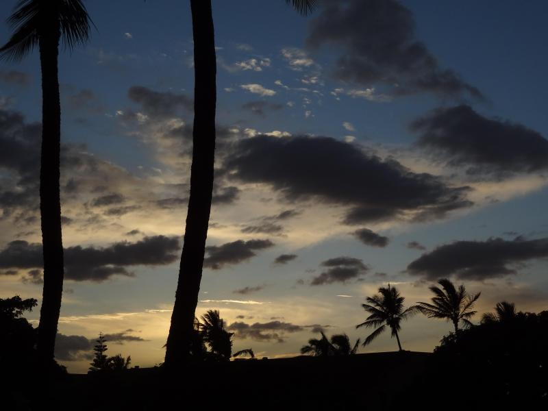 Maui evening from the Lanai