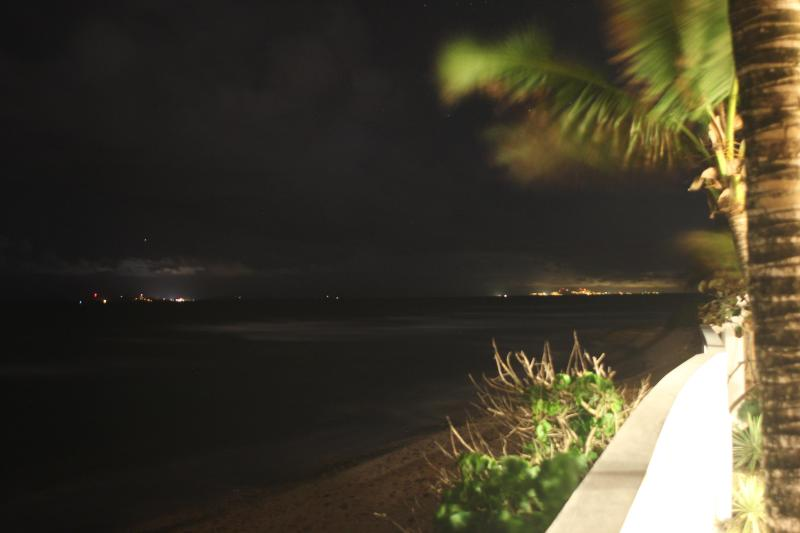 The lights of St. Thomas and Culebra from patio