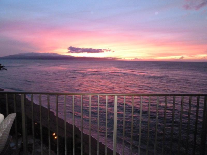 sunset from lani