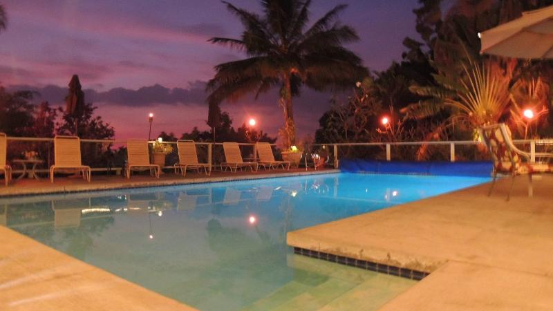 Relax after Sunset at the pool with your favorite beverage. Tiki torches provided too!