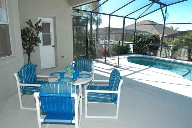 Have your breakfast while looking at your pool.