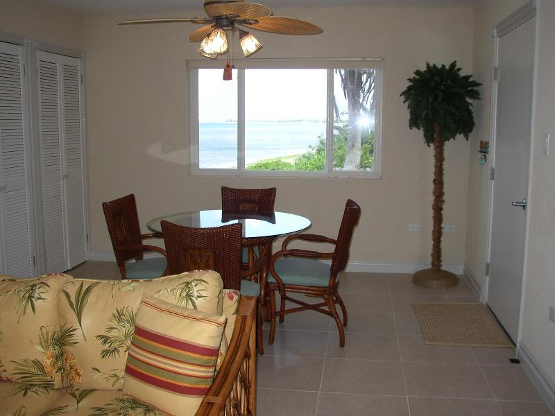 Dining area with excellent view of the Caribbean Sea