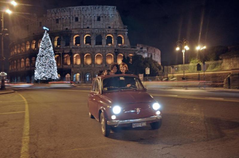 Our Fiat 500 & Coliseum @ Xmas Time ;)!