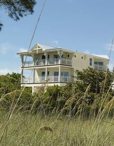 villa from beach