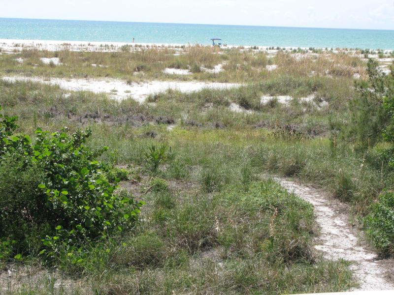 private path from house to beach