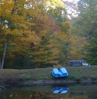 Paddle-Boat on Pond