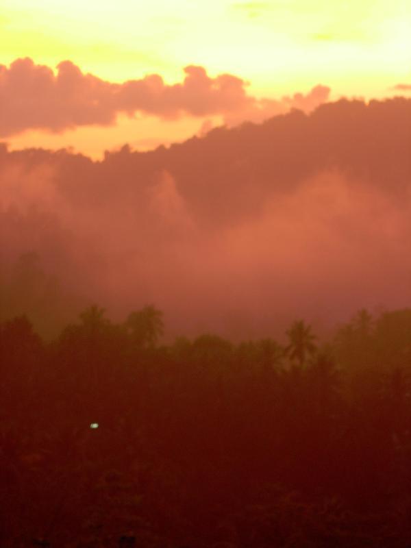Spektakulära solnedgångar