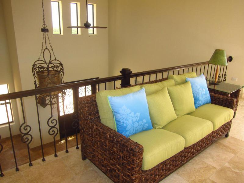 Upstairs mezzanine with sofa sleeper