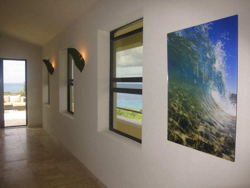 View of mezzanine with 'Wave' photo