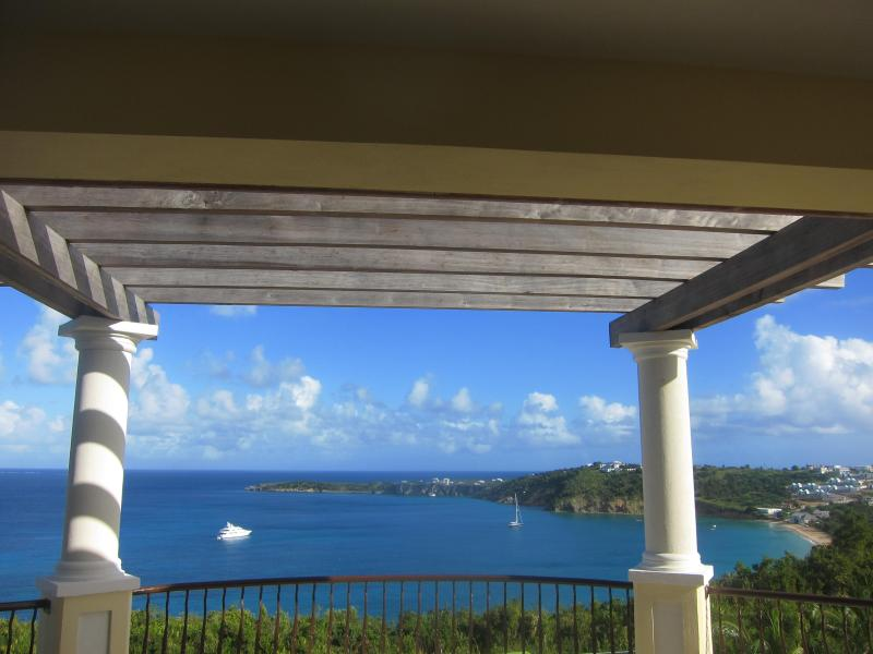 View of Crocus Bay from upstairs master bedroom balcony