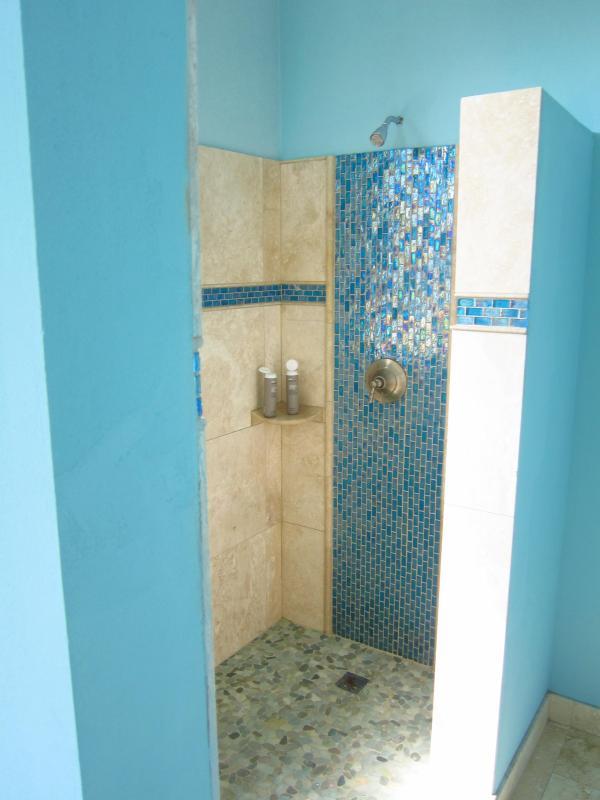 Upstairs master bath shower