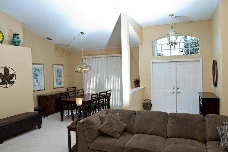 the front entry & formal dining & living room