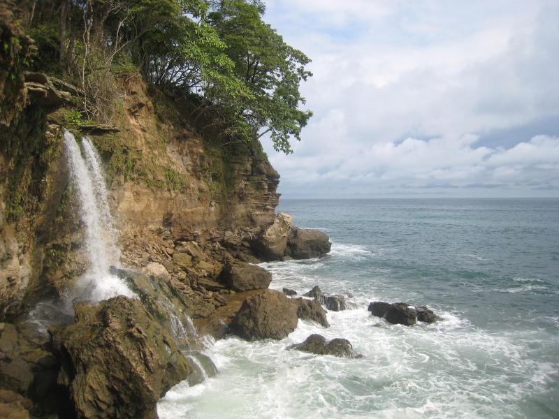 Cocalito waterfalls besides Tango Mar