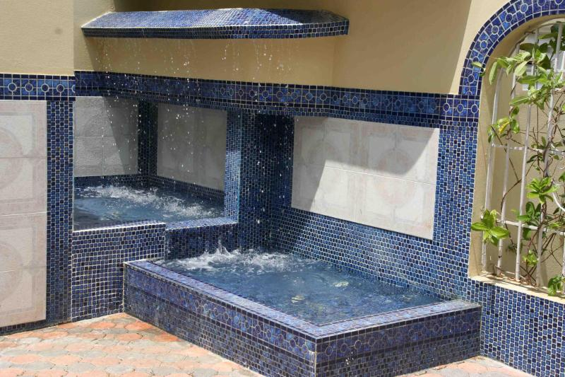 Spanish fountains welcome you as you enter the Las Terrazas courtyard