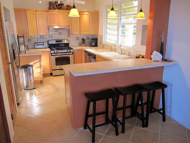 Meal preparation is a pleasure in the newly renovated kitchen