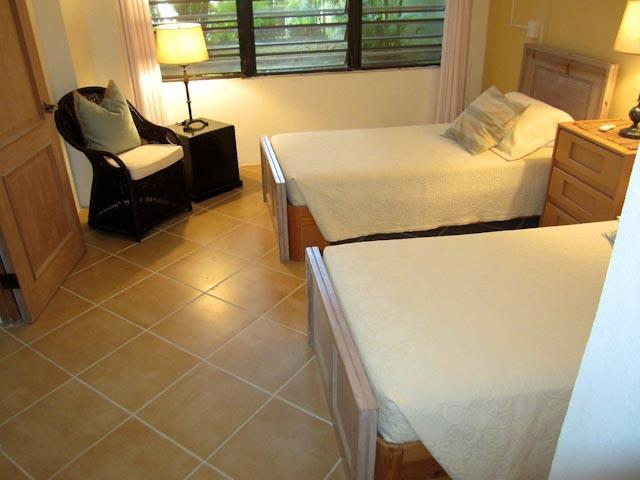 The second downstairs bedroom can also be arranged with a king bed