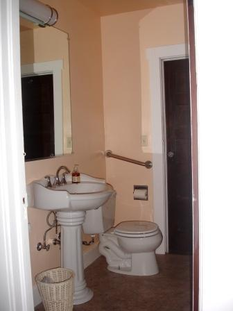 recently remodelled bathroom with shower
