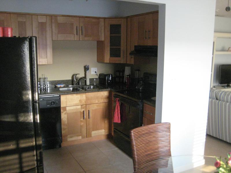 Altra vista della zona cucina