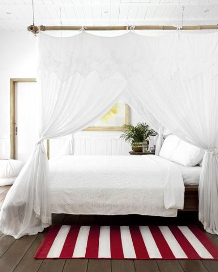 Mosquito neted double bed