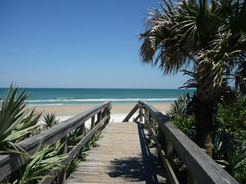 Walkway to beautiful New Smyrna Beach