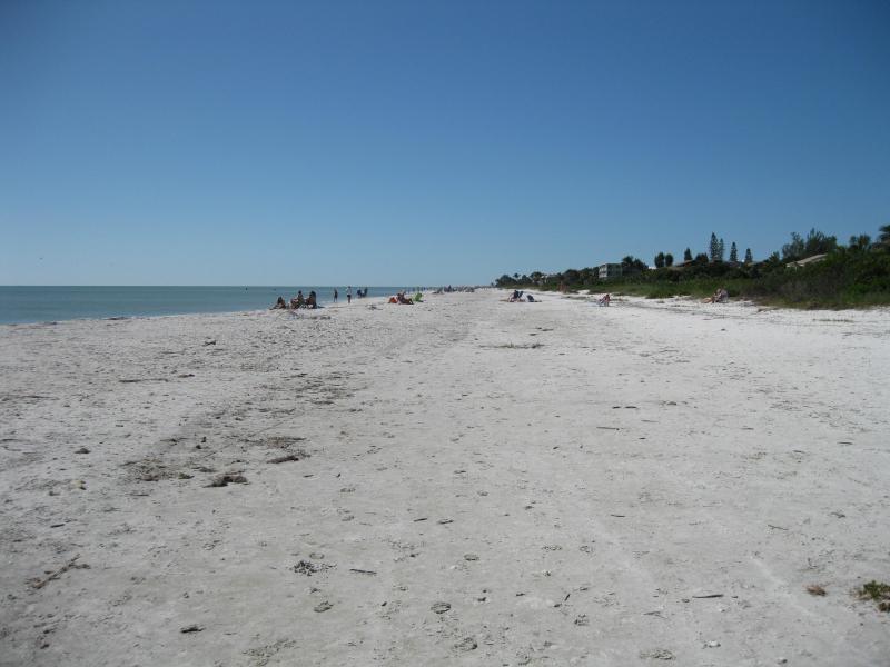 La spiaggia vi aspetta.  Vieni giù!
