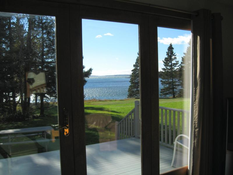 View toward ocean and private ledges