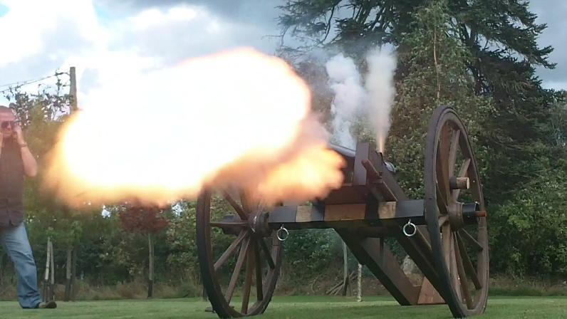 Firing the cannon - just your regular Sunday afternoon...