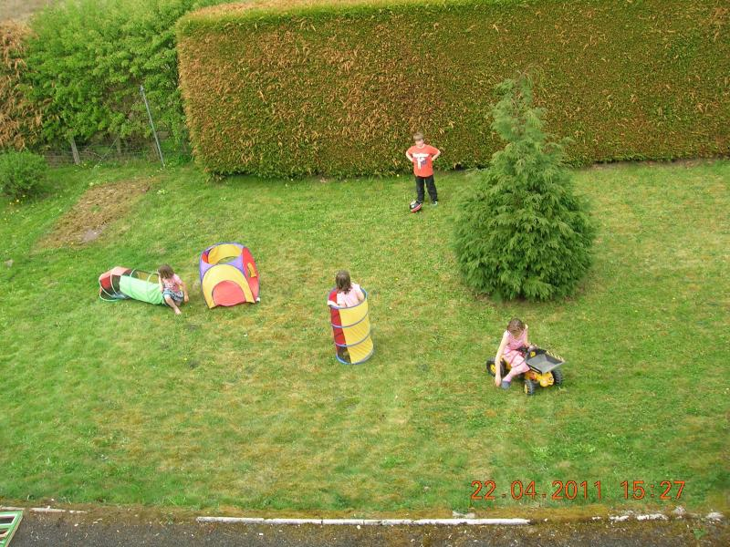 Children Playing on side lawn
