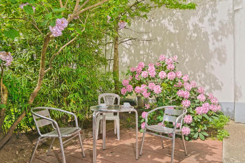 Enjoy a cup of coffee in your private garden