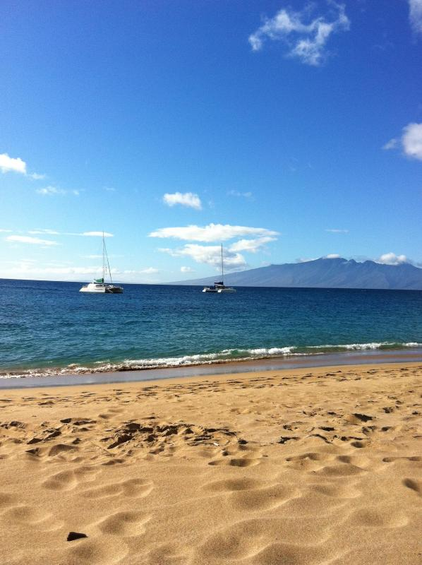 View of Molokai from The Whaler on Kaanapali Beach