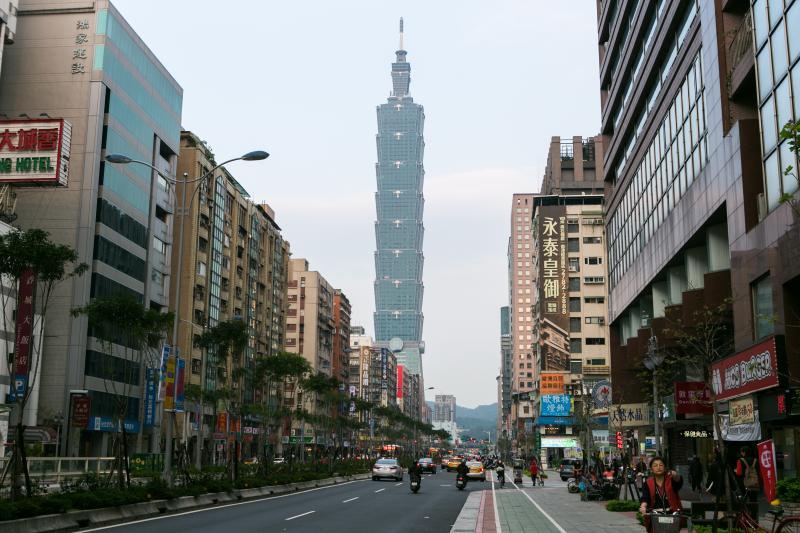 Taipei 101 on nearby Xinyi Road