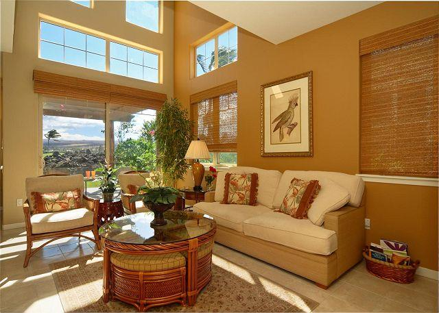 Comfortable Island Living Room